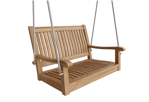 "Patio Furniture Land ANDERSON TEAK Del-Amo 36"" Straight Swing Bench Seating"