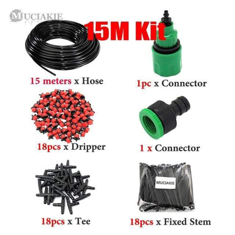 Patio Furniture Land DIY Garden Irrigation System Kit 15m Kit Garden