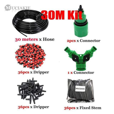 Patio Furniture Land DIY Garden Irrigation System Kit 30m Kit Garden