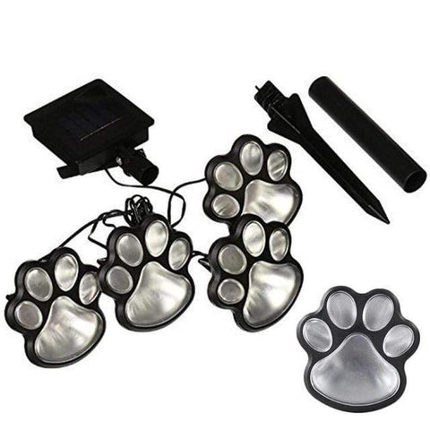 Patio Furniture Land Dog Paws Solar Garden Lights Multicolor