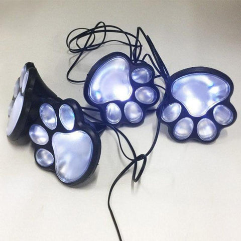 Patio Furniture Land Dog Paws Solar Garden Lights