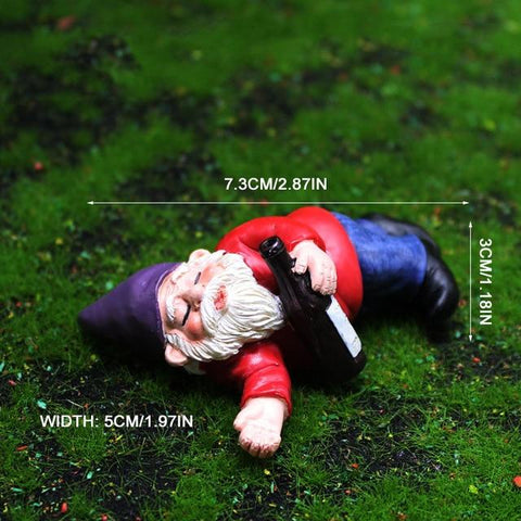 Patio Furniture Land Drunk Dwarf Landscape Ornament Lying drunk dwarf Garden