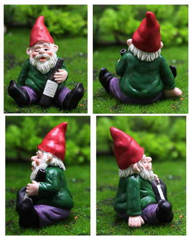 Patio Furniture Land Drunk Dwarf Landscape Ornament Garden