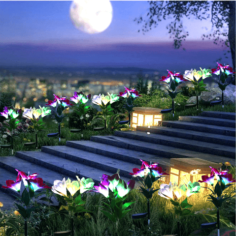 Patio Furniture Land Lily Solar Garden Stake Lights