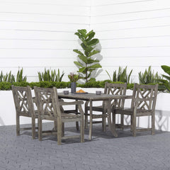 Vifah FLASH SALE! Vifah Renaissance Outdoor 5-piece Hand-scraped Wood Patio Dining Set V1300SET2 VIFAH Renaissance Outdoor 5-piece Hand-scraped Wood Patio Dining Set Dining