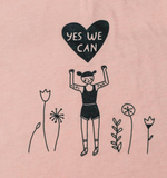Yes We Can! Women's Peach Muscle T