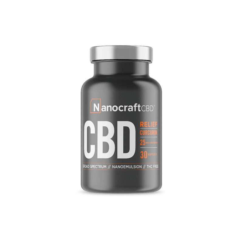 Broad Spectrum CBD + Curcumin Softgels