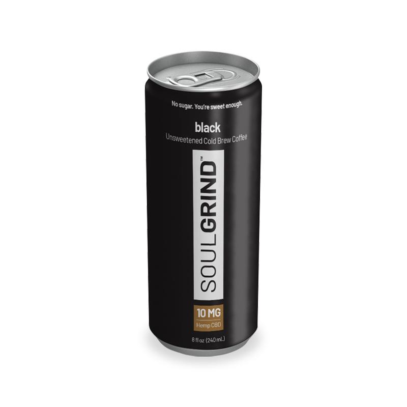 CBD Infused Cold Brew Coffee Black Single 8oz Can