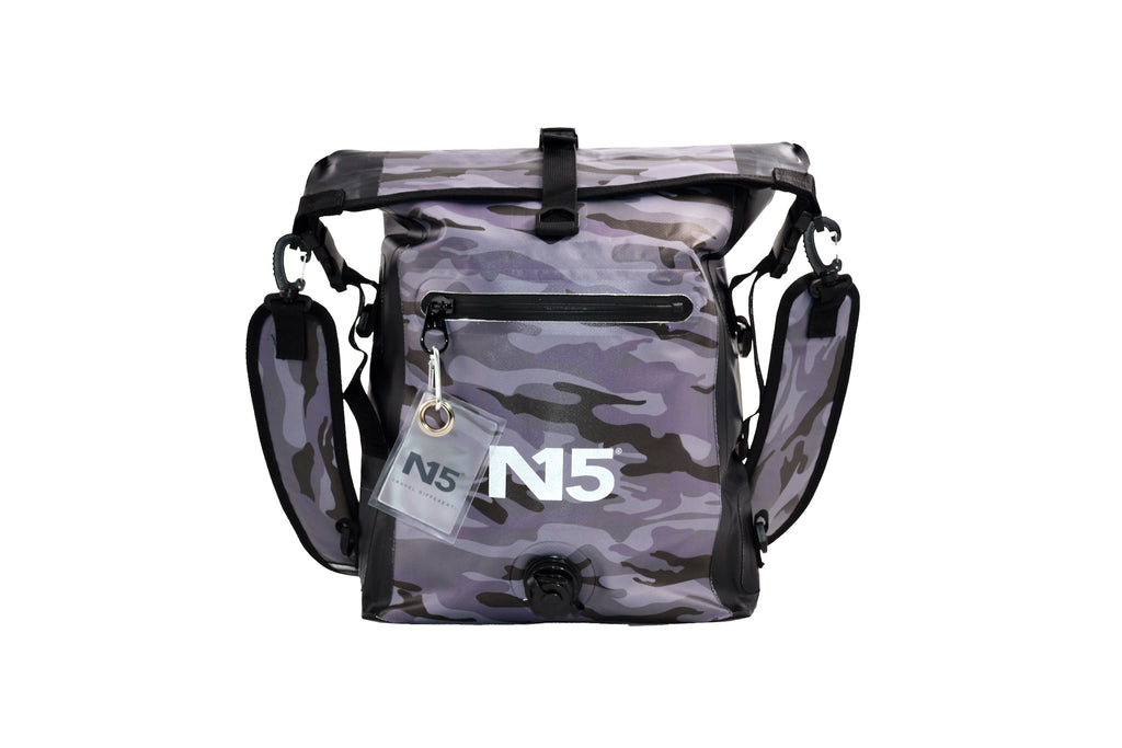 small backpack camouflage grey