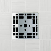 Load image into Gallery viewer, Ebbe E4801 Prairie Polished Chrome Square Shower Drain