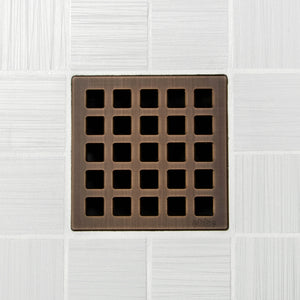 Ebbe E4803 Quadra Oil Rubbed Bronze Square Shower Drain