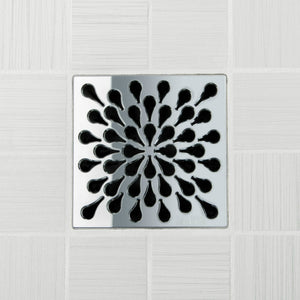 Ebbe E4805 Splash Polished Chrome Square Shower Drain