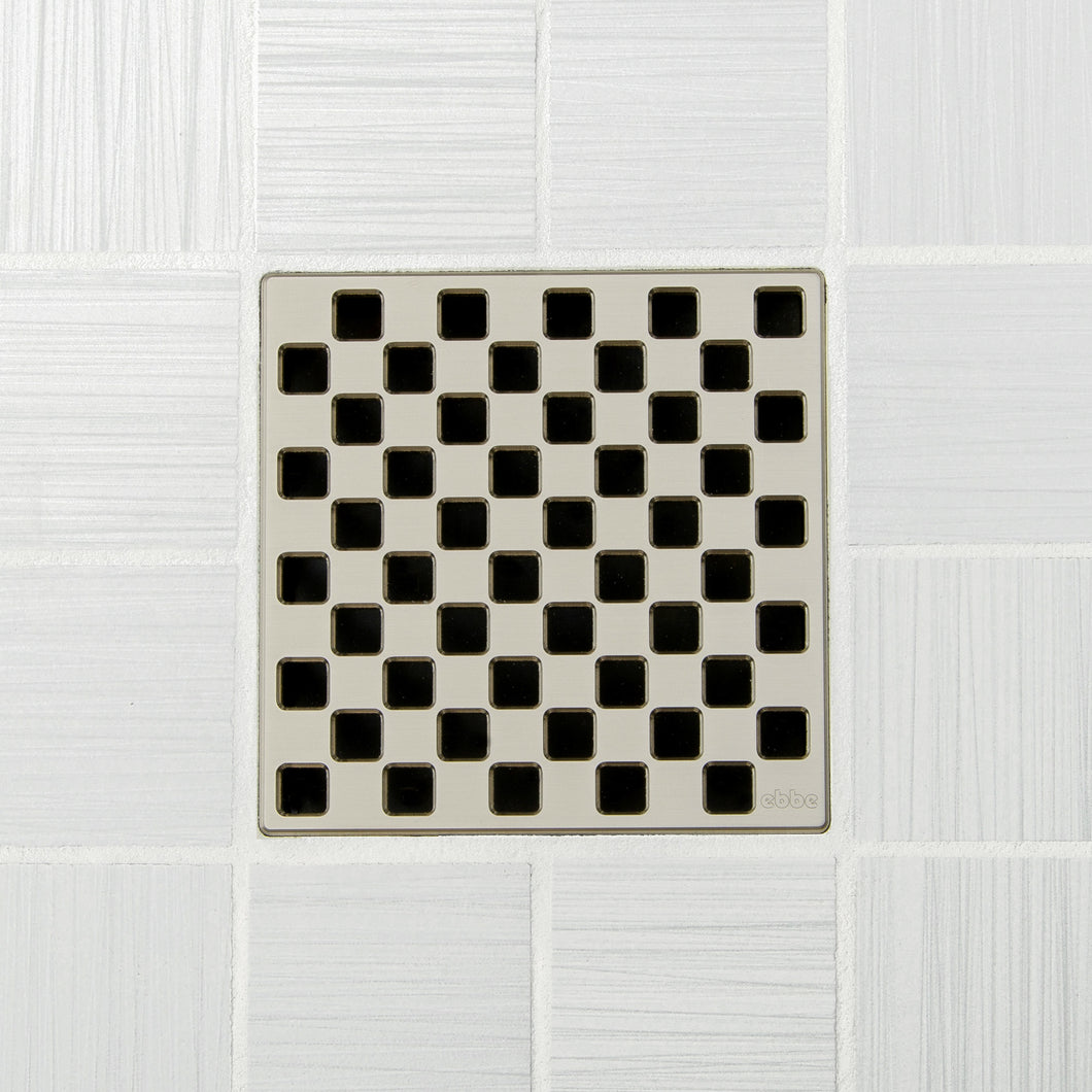 Ebbe E4807 Weave Satin Nickel Square Shower Drain
