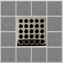 Load image into Gallery viewer, Ebbe E4409 Polished Nickel Square Shower Drain