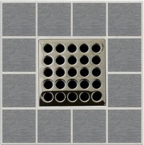Ebbe E4409 Polished Nickel Square Shower Drain