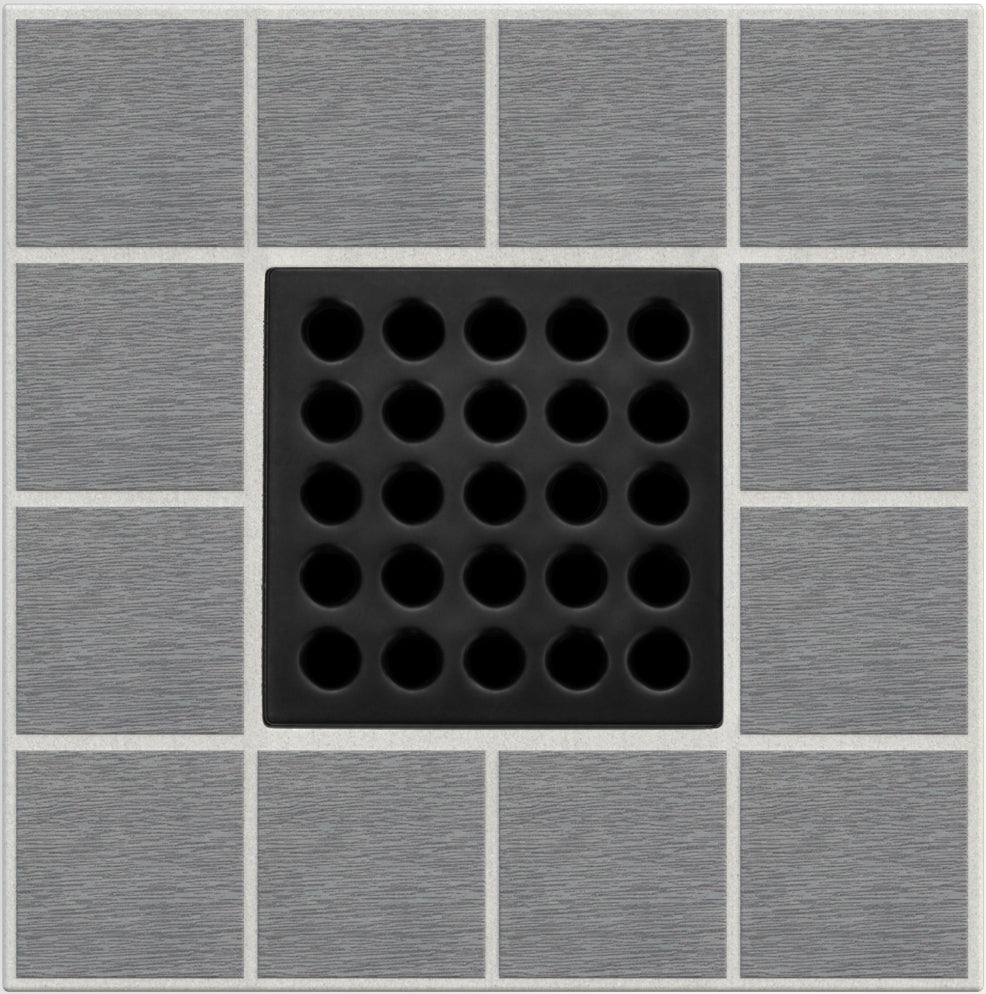Ebbe E4411 Matte Black Square Shower Drain