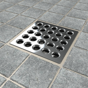 Ebbe E4401 Polished Chrome Square Shower Drain