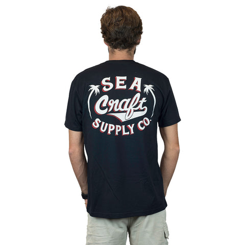 Sea Craft Supply Co. Palm Tee Black