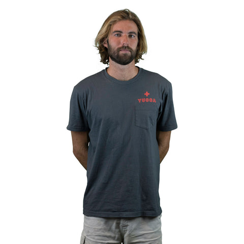 Yucca Fins - Pocket Tee - Ultra soft blend - Grey