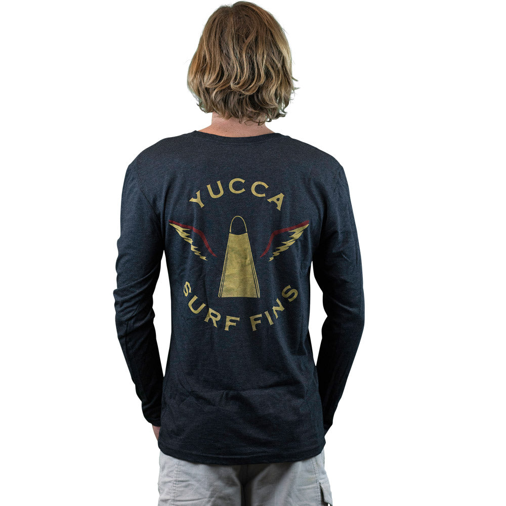 YUCCA FINS YSF Tee - Ultra soft blend - Black Long Sleeve