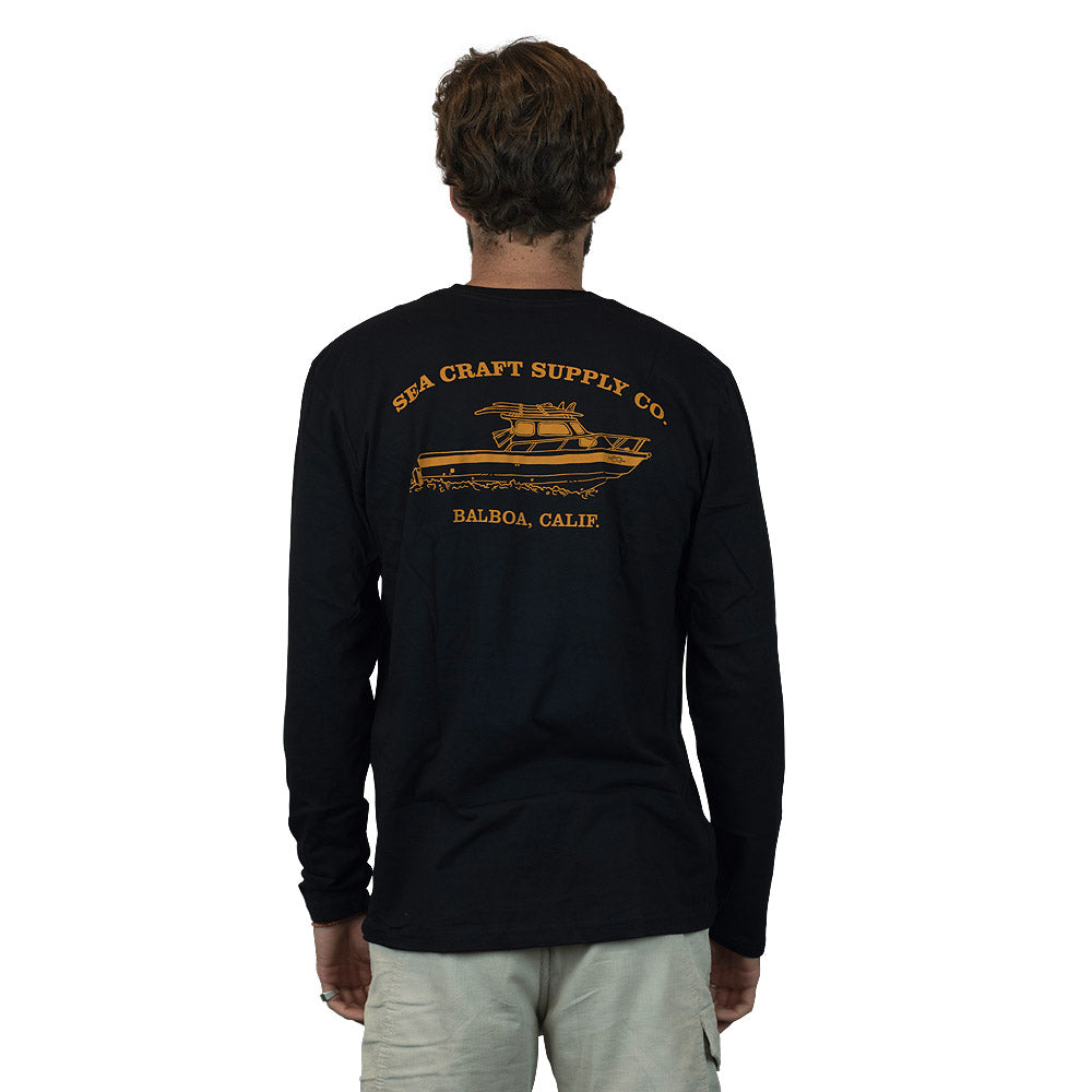 Sea Craft Supply Co. Boat Tee - Long Sleeve Black