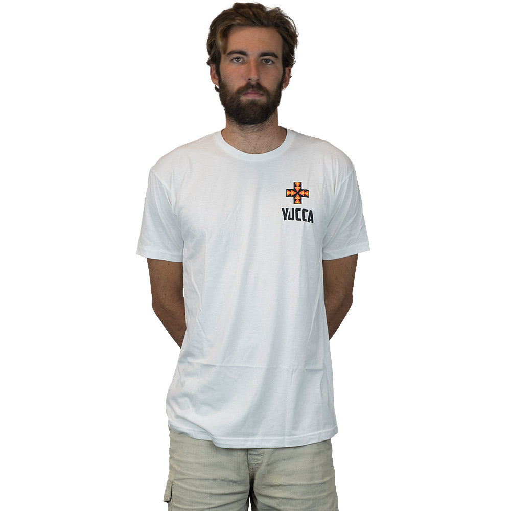 YUCCA FINS Original Tee - Ultra soft blend - White