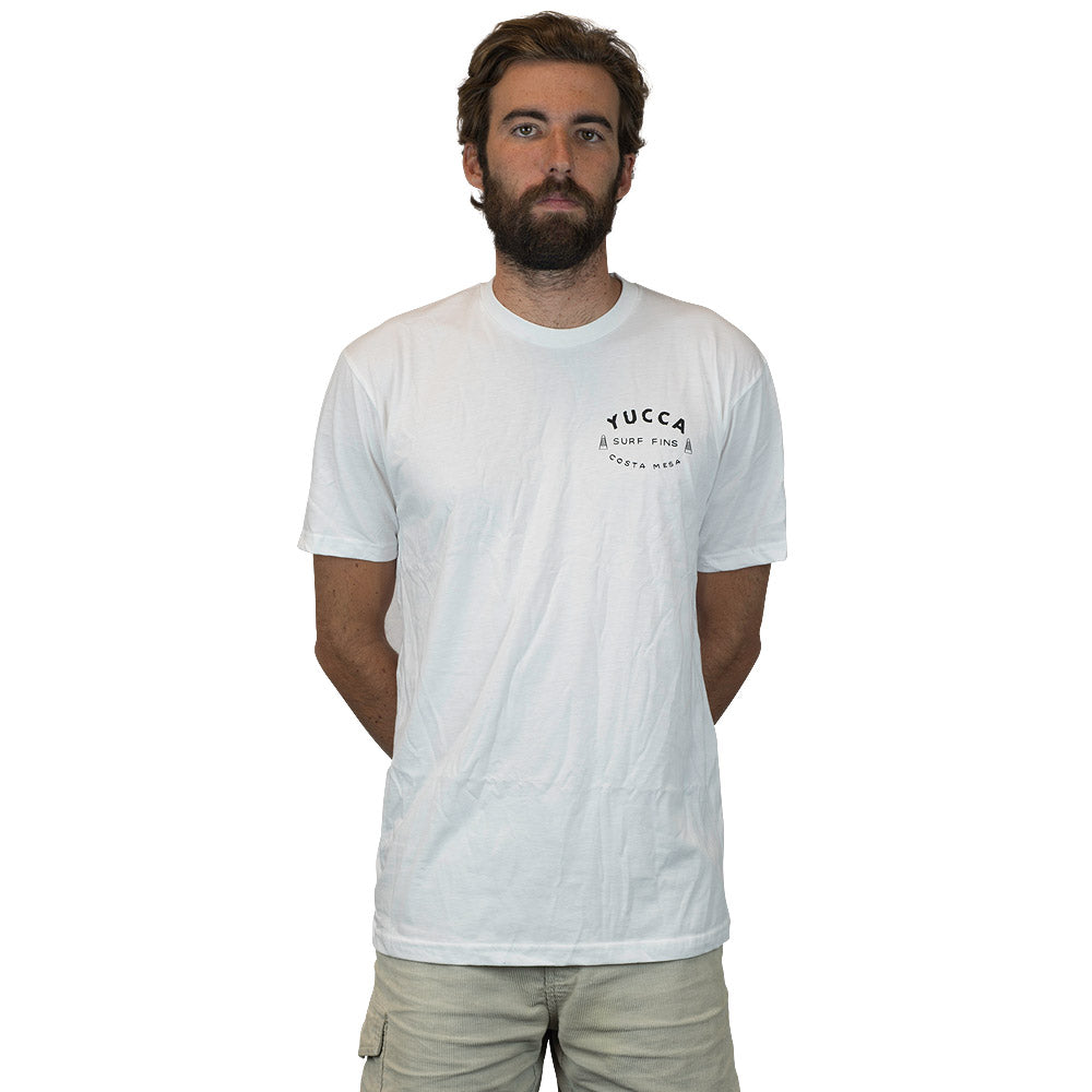 YUCCA FINS Original  - Ultra soft blend - Plant Tee White