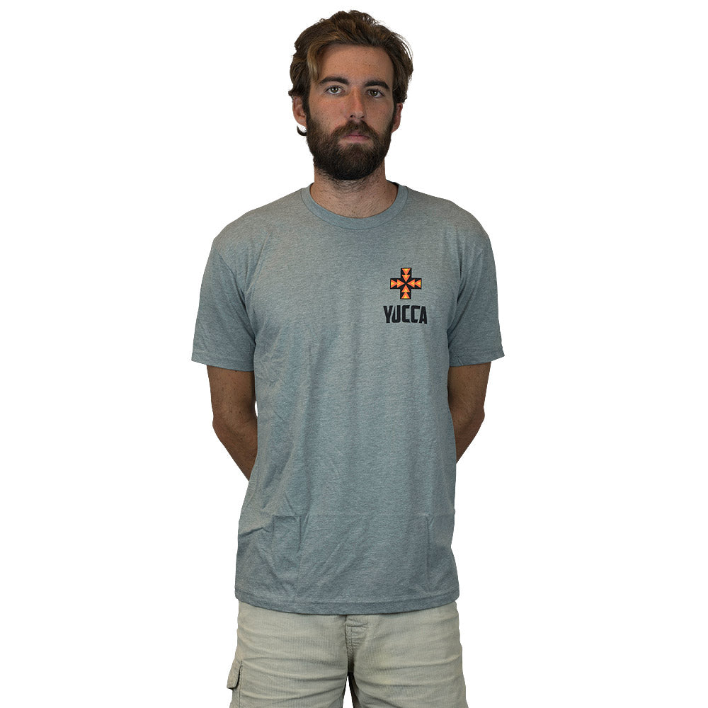 YUCCA FINS Original Tee - Ultra soft blend - Grey