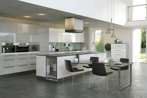Pronto Firbeck Doors in Supergloss White and Light Grey