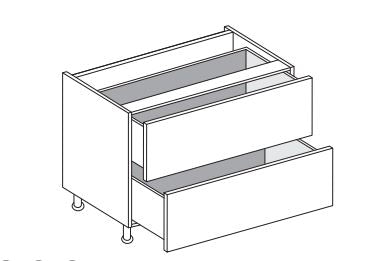 Vivo - 900mm Base Unit with 2 Drawers