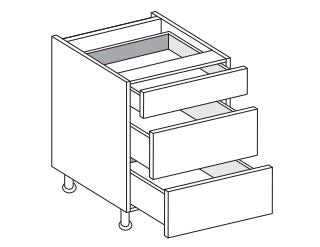 Vivo - 500mm Base Unit with 3 Drawers