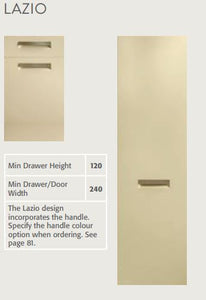 Bella Lazio style door - technical specification