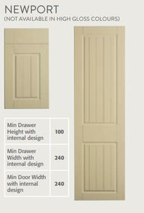 Bella Oakgrain style door - technical specification
