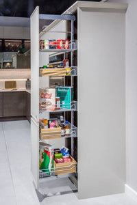 Kesseböhmer Dispensa Silver Classic Larder Pull-out for 300mm cabinets - Unhanded