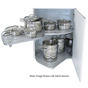 Kesseböhmer LeMans II Silver Arena Base Corner Pull-out for 1000mm cabinets (500 width) - Left Hand