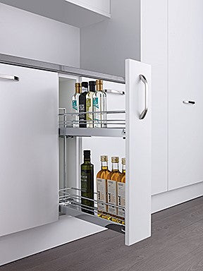 Kesseböhmer Silver Classic Base Pull-out for 150mm cabinets Unhanded