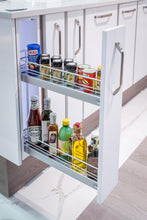 Load image into Gallery viewer, Kesseböhmer Silver Classic Base Pull-out for 150mm cabinets Unhanded