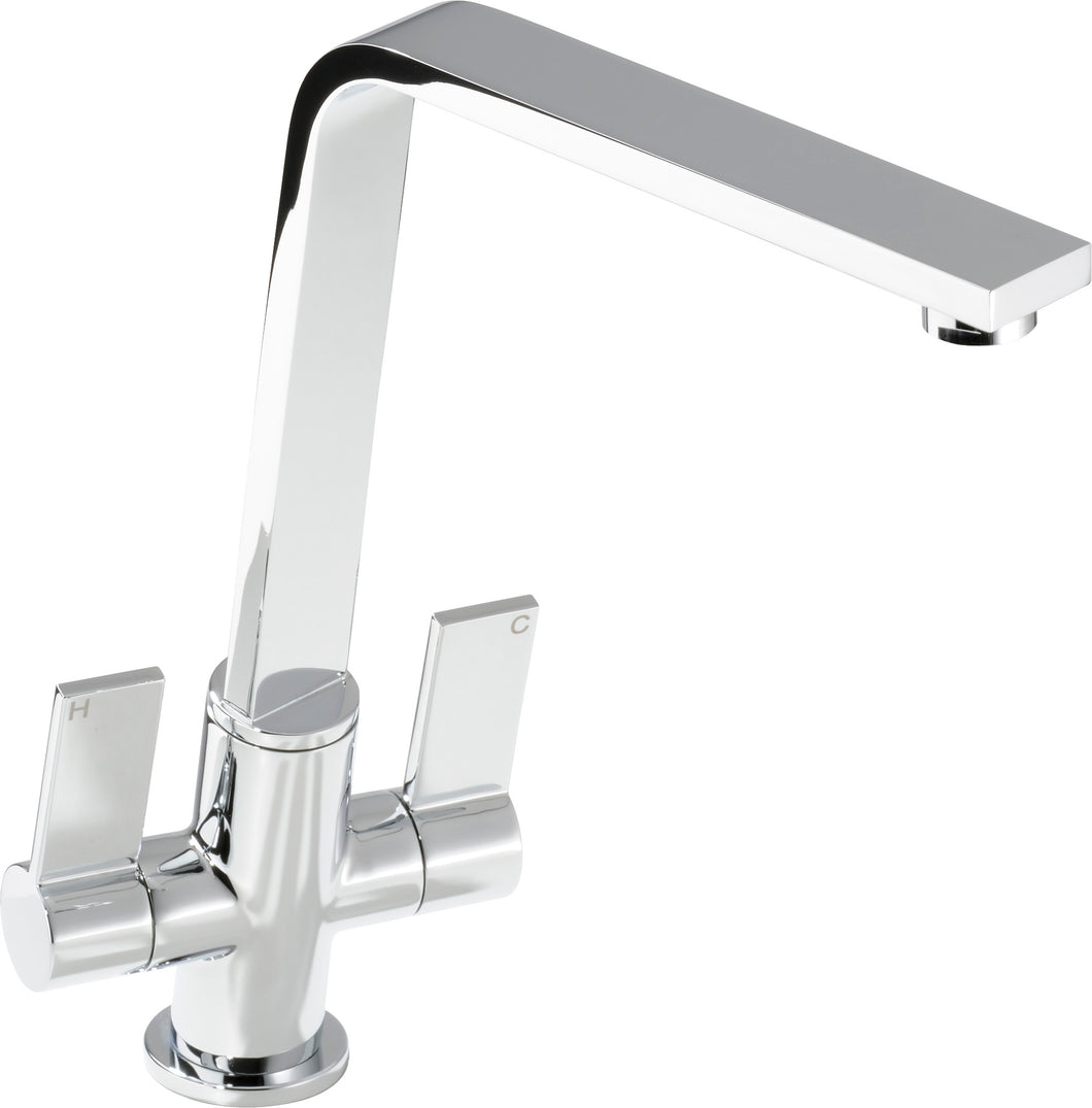 Linear Flair dual lever tap, chrome finish
