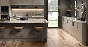 Zurfiz Kitchen in Serica Matt Pebble Colour