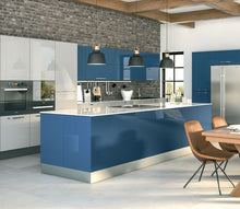 Load image into Gallery viewer, Zurfiz Kitchen in Ultragloss Baltic Blue Colour