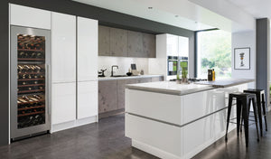 Zurfiz Kitchen in Ultragloss Glacier White Colour