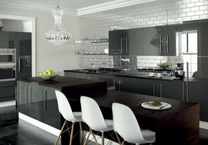 Zurfiz Kitchen in Ultragloss Metallic Anthracite Colour
