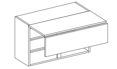 Vivo - 900mm Bi-Fold Wall Unit