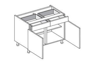 Vivo - 800mm Drawerline Base Unit with 2 Drawers