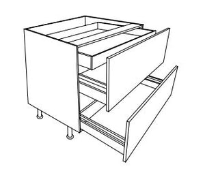 Vivo - 800mm 2 Pan Drawer Unit with Internal Drawer
