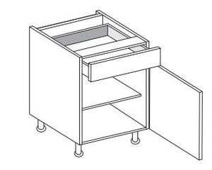 Vivo - 500mm Drawerline Base Unit with 1 Drawer