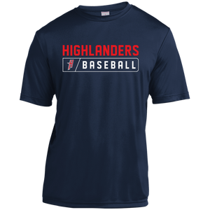 Highlanders Bar Logo (red)  Youth Moisture-Wicking T-Shirt