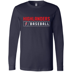 Highlanders Bar Logo (red) Men's Jersey LS T-Shirt