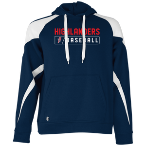 Highlander Bar Logo (red) Men's Colorblock Hoodie