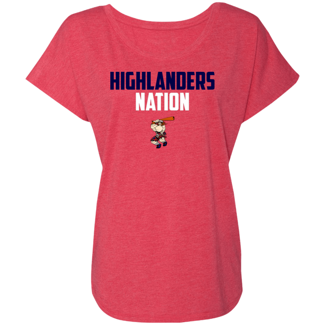 Highlanders Nation Ladies' Triblend Dolman Sleeve